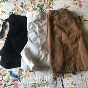 Two pair of shorts and one skirt bundle